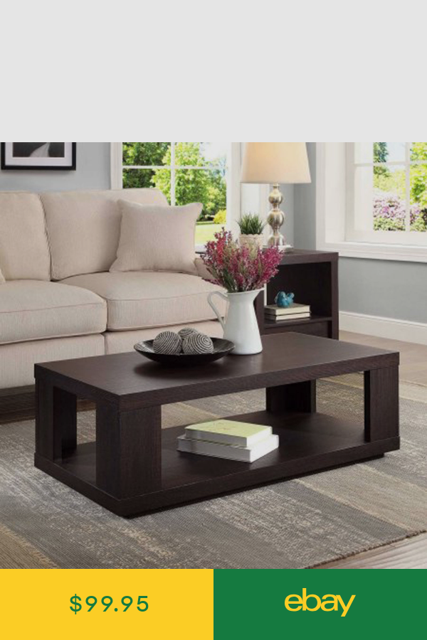 Coffee Table With Storage Bottom Shelf Living Room Furniture Espresso Finish New Center Table Living Room Centre Table Living Room Living Room Table