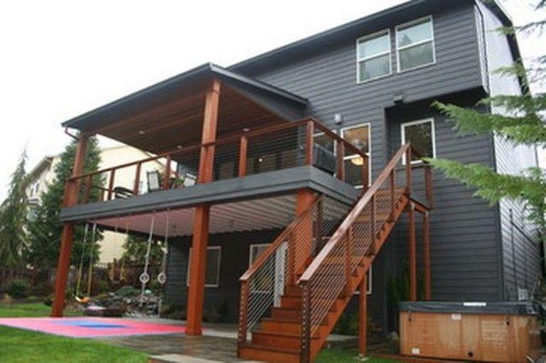44 Wonderful Second Floor Deck Design Ideas Building A Deck House With Porch Patio Deck Designs