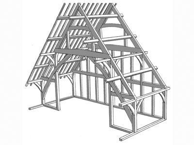 Aisled frame   Timber Framing   Pinterest   Construction