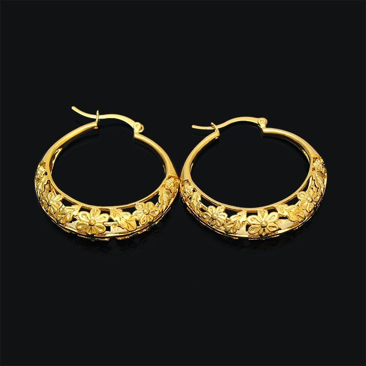 Ethiopian/Nigeria/Kenya /Ghana African basket design earrings Gold ...