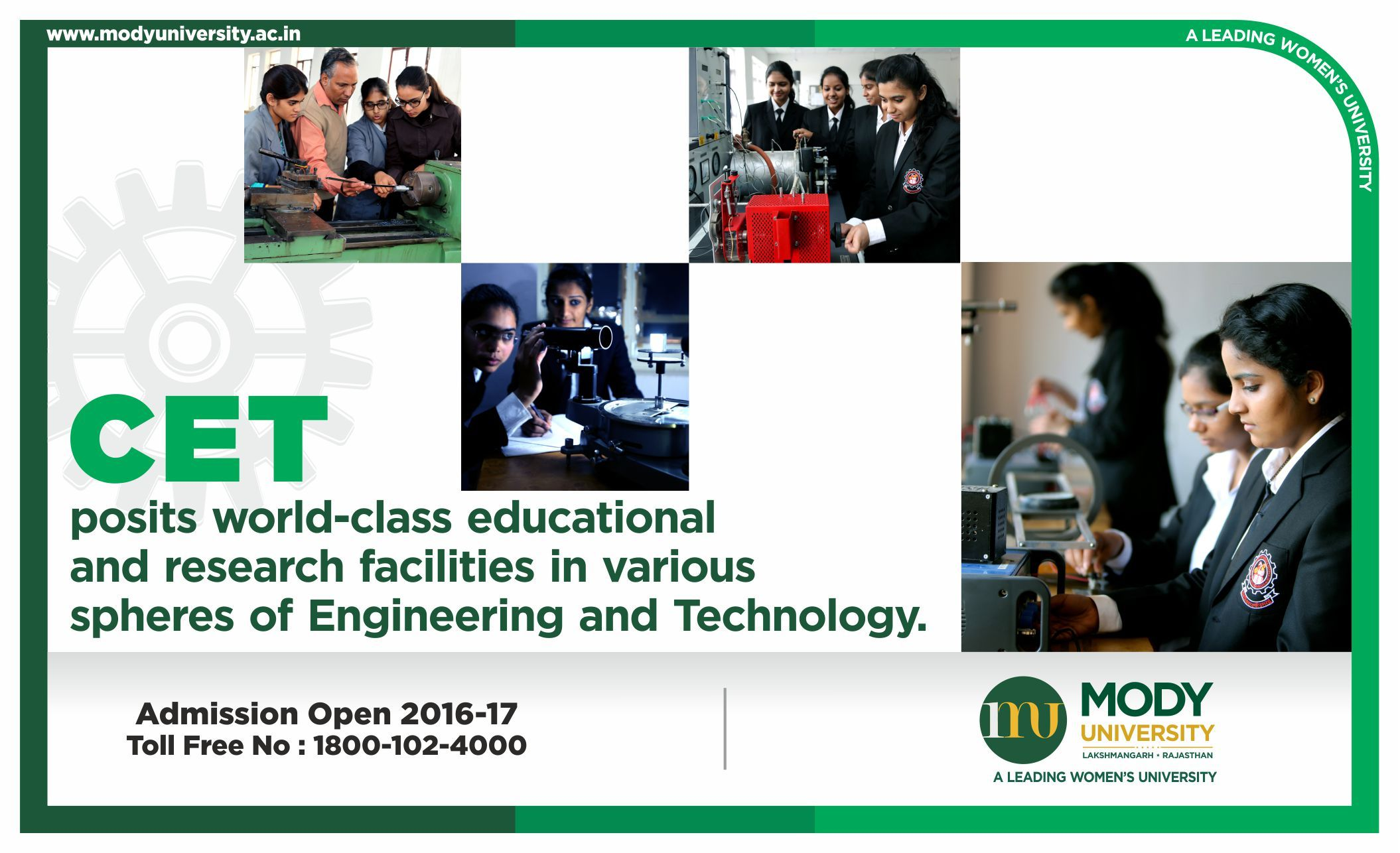 CET posits world-class educational and research facilities in various spheres of Engineering and Technology.