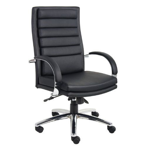Boss B9461 Bk Executive High Back Ribbed Chair By Boss 184 56 Executive High Back Styling Beautifully Office Chair Executive Chair Office Furniture Modern