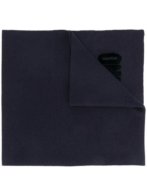 Photo of MOSCHINO embroidered scarf. #moschino #