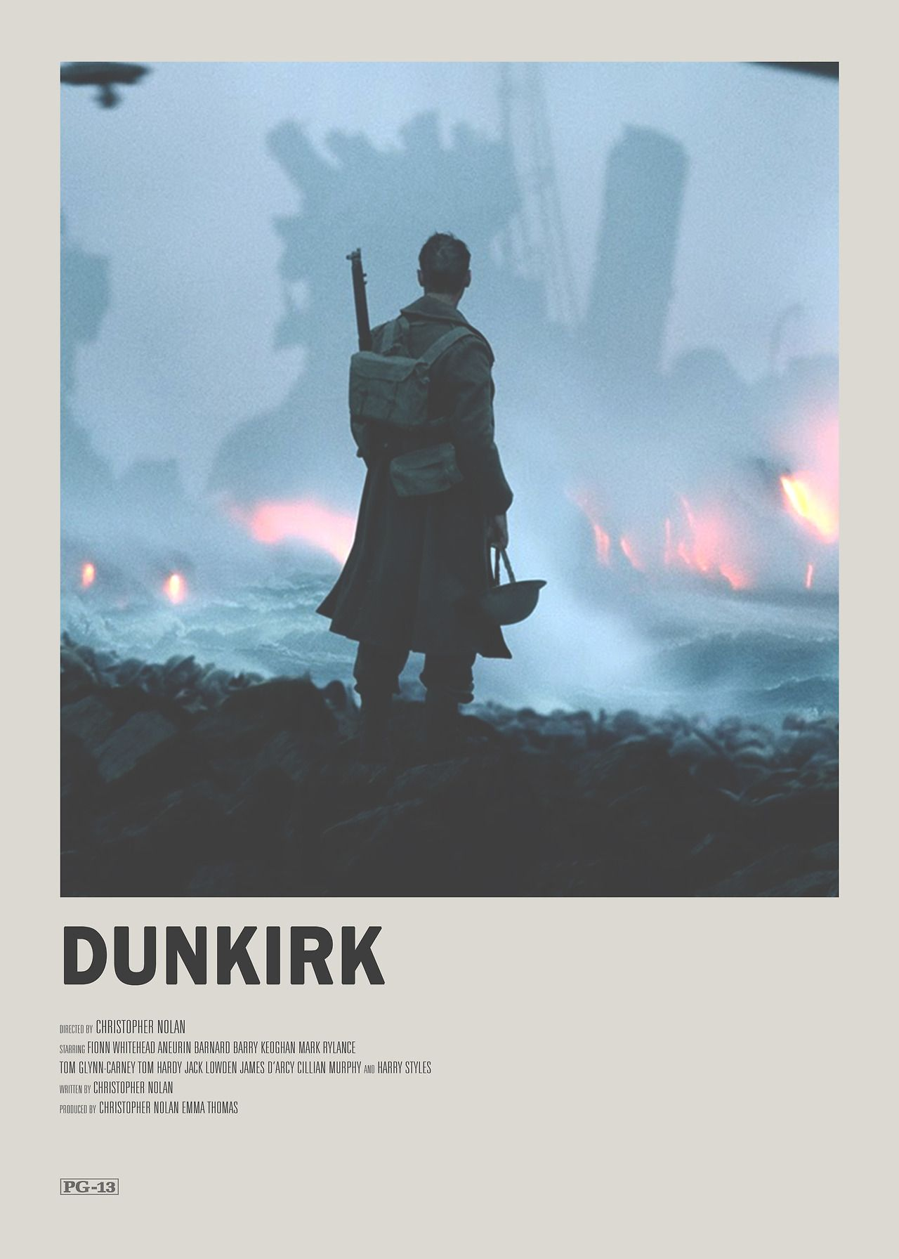 Dunkirk Minimal Movie Poster My Favourite Films And Books - Popular movie posters get redesigned with a beautifully minimal twist