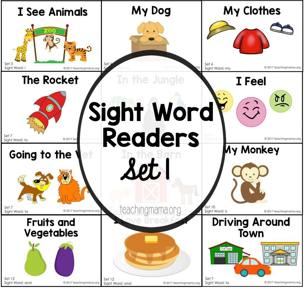 Sight Word Reader For The Word I