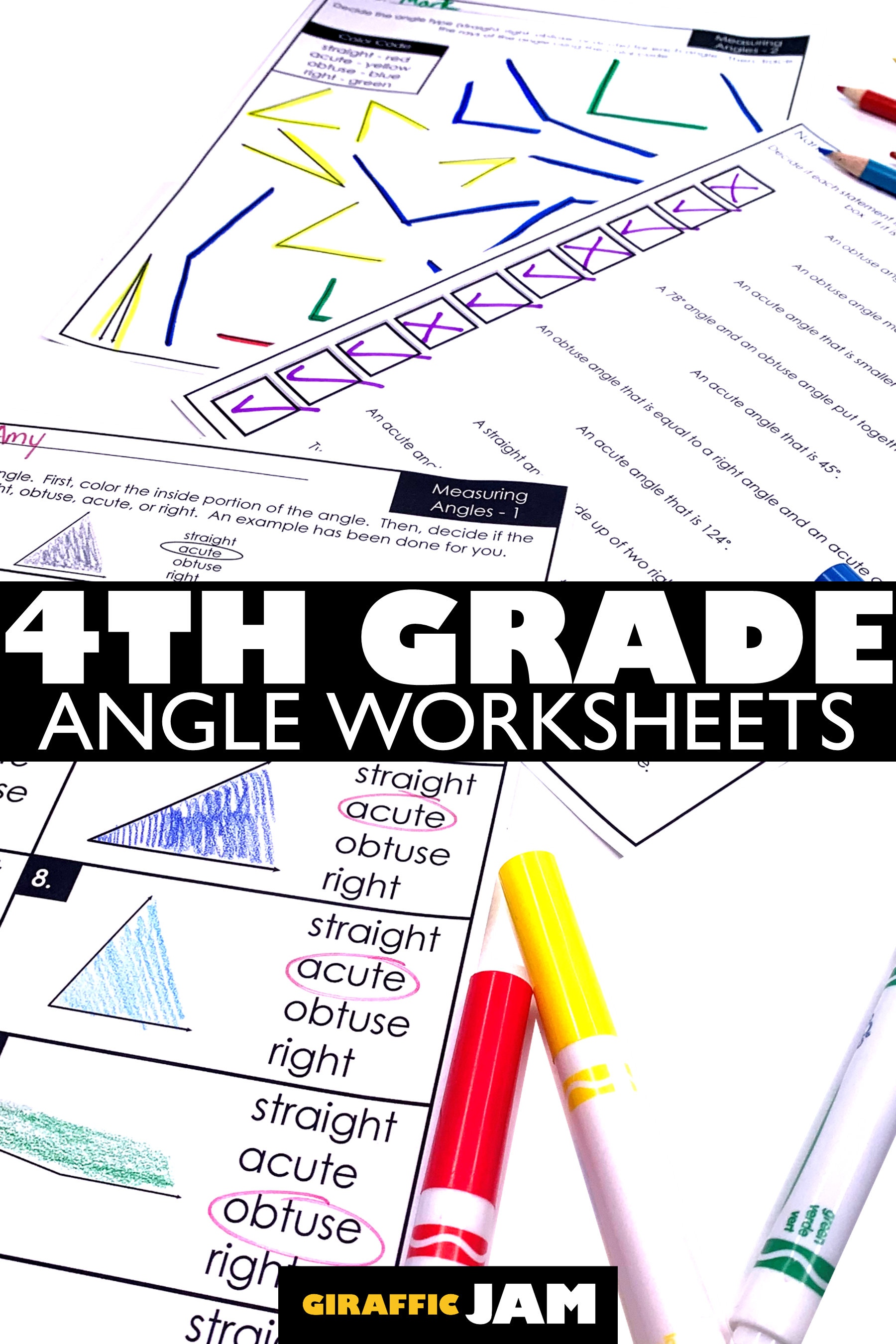 4th Grade Angle Measurement Worksheets With Digital Google Slides Version Measurement Worksheets Measurement Homework Angles Worksheet [ 2700 x 1800 Pixel ]