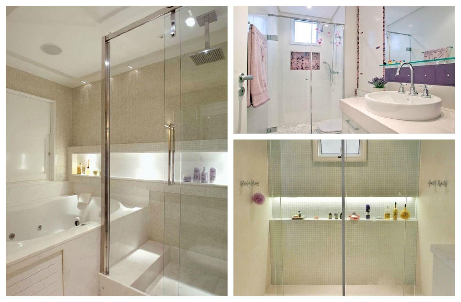 nicho banheiro altura  Pesquisa Google  Banheiros e Lavabos  Pinterest -> Nicho Para Shampoo Banheiro