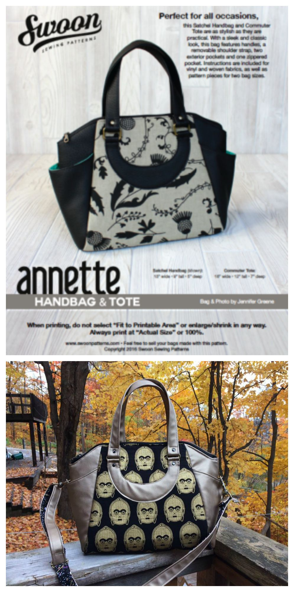 Tote amp; Bolsos Pinterest sewing Handbag Great Annette patterns 7ExOw5Bxq