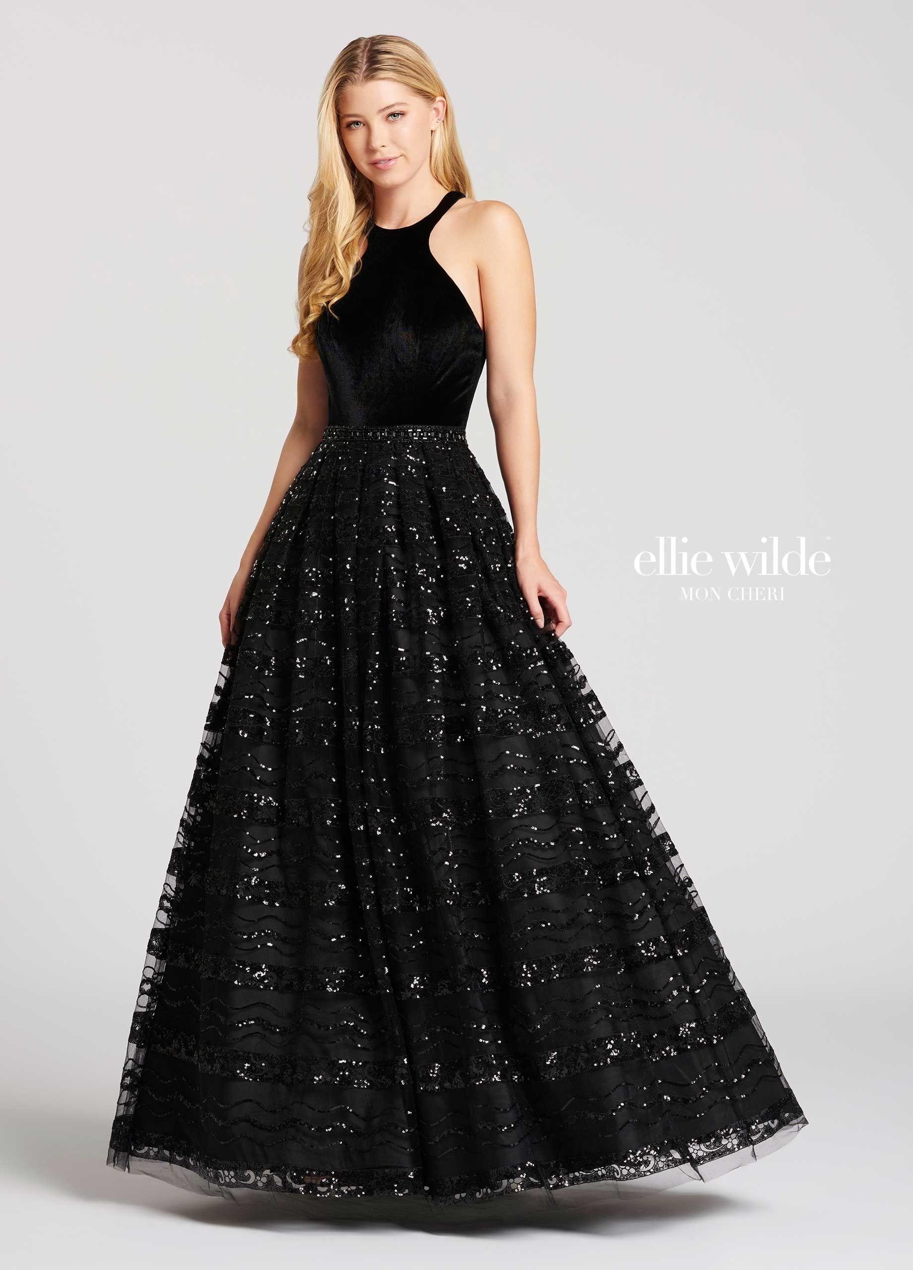 cc0c5bb7611 Black Velvet Sequin Prom Dress - Gomes Weine AG