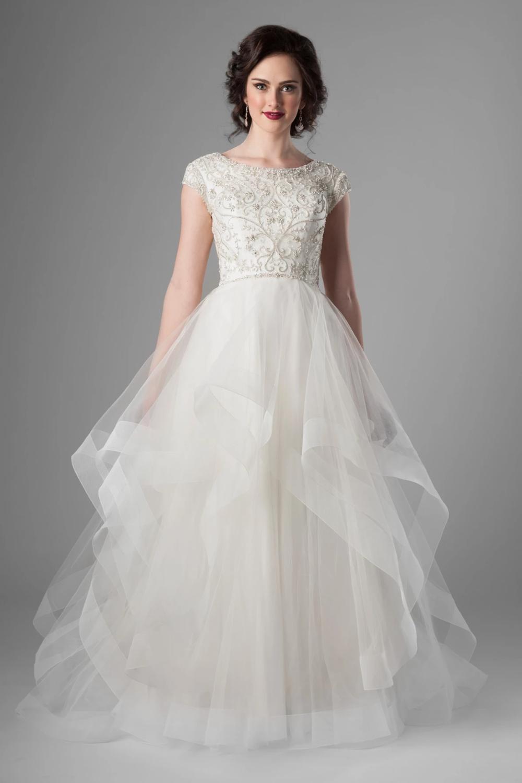 Waterford Modest wedding dresses, Wedding dresses, Ball
