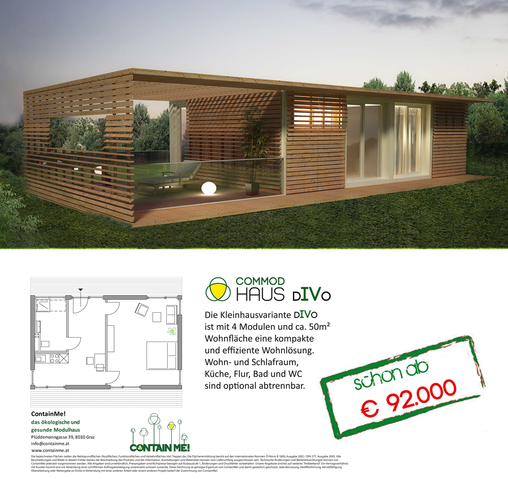 Commod haus commod haus divo angebot shipping for Haus container