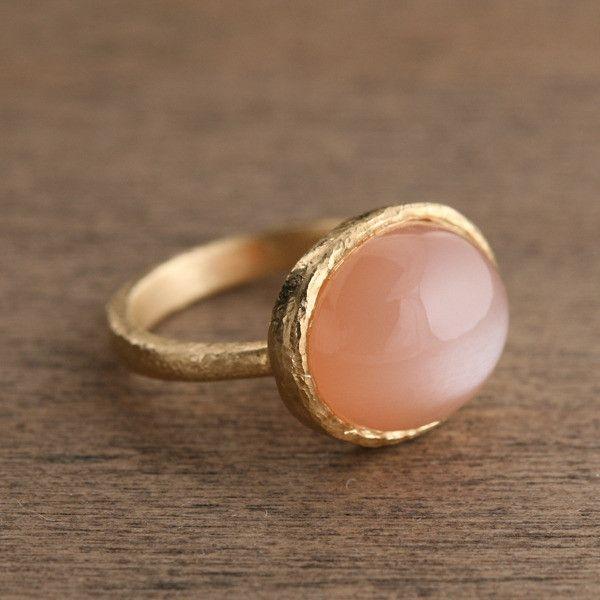 Yasuko Azuma Jewelry — Peach Moonstone Ring | rings ...