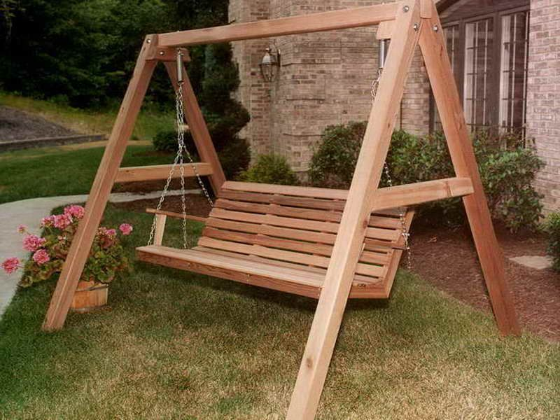porch id swing diy wooden large wood