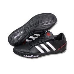 Adidas originals goodyear driver vulc leather black white