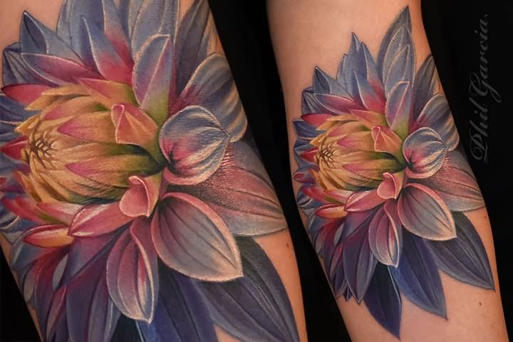 cool 3d dahlia flower tattoo design for arm dahlia pinterest rh pinterest com black dahlia flower tattoo dahlia flower tattoo meaning