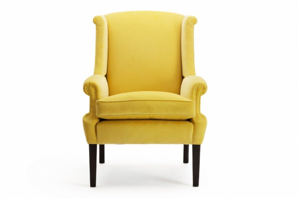 Delicieux Beautiful Yellow Elliott Wing Back Chair Features Yellow Soft Slip Seat  Sofa And Yellow Soft Front