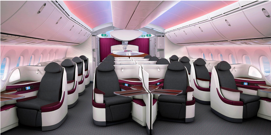 From Air Canada To Sas The Best New Business And First Class Seats Qatar Airways Boeing 787 Dreamliner Airplane Interior