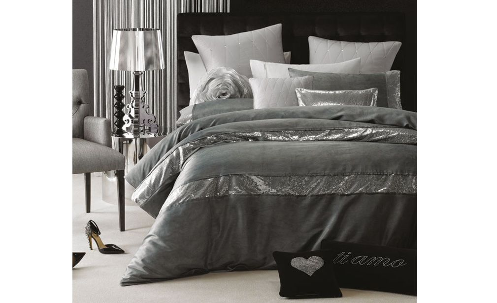 Pascal Silver Bedding Set Linen House Glamour Silver Bedding Set Quilt Cover Sets Bed Linens Luxury