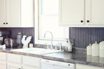Love Her Ideas Backsplash Made Of Tin From Barn Roof Finally