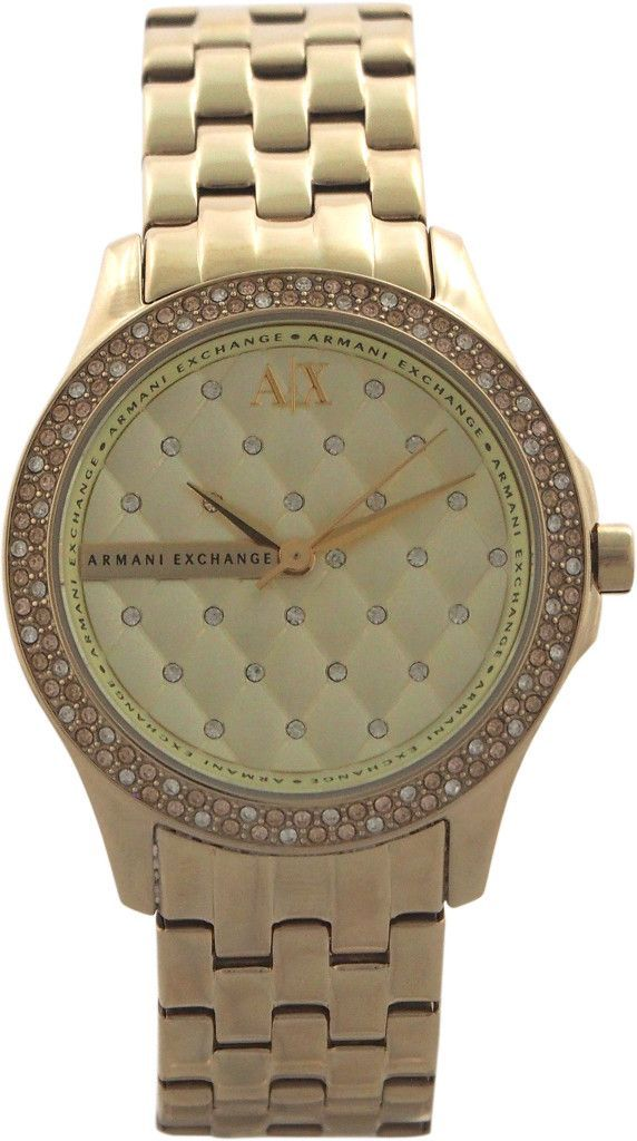 9b5027395ff armani exchange - ax5216 lady hampton gold stainless steel watch ...