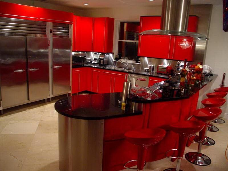 retro cherry red kitchen decorating ideas | what a chill color