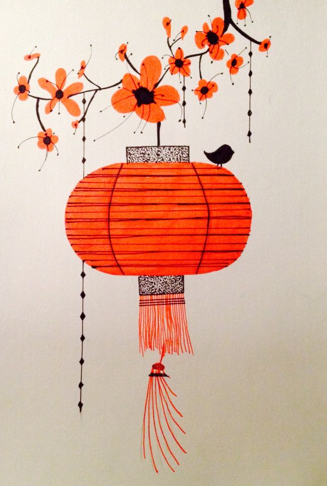 Chinese Lantern Chinese Drawings Chinese Art Chinese Lanterns