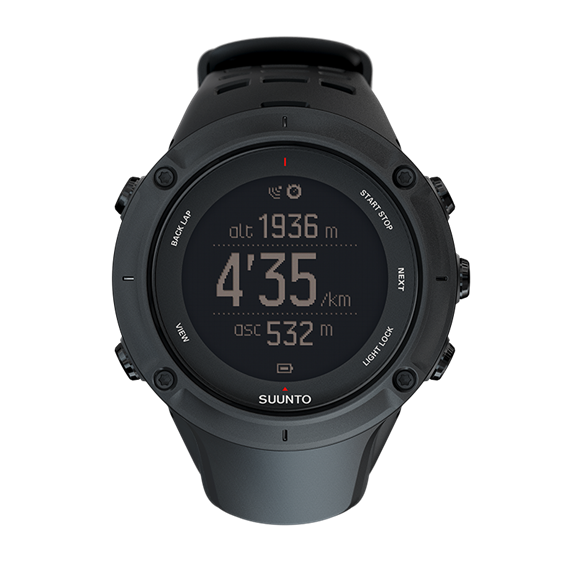 Suunto Ambit3 Peak Black GPS watch for outdoor sports