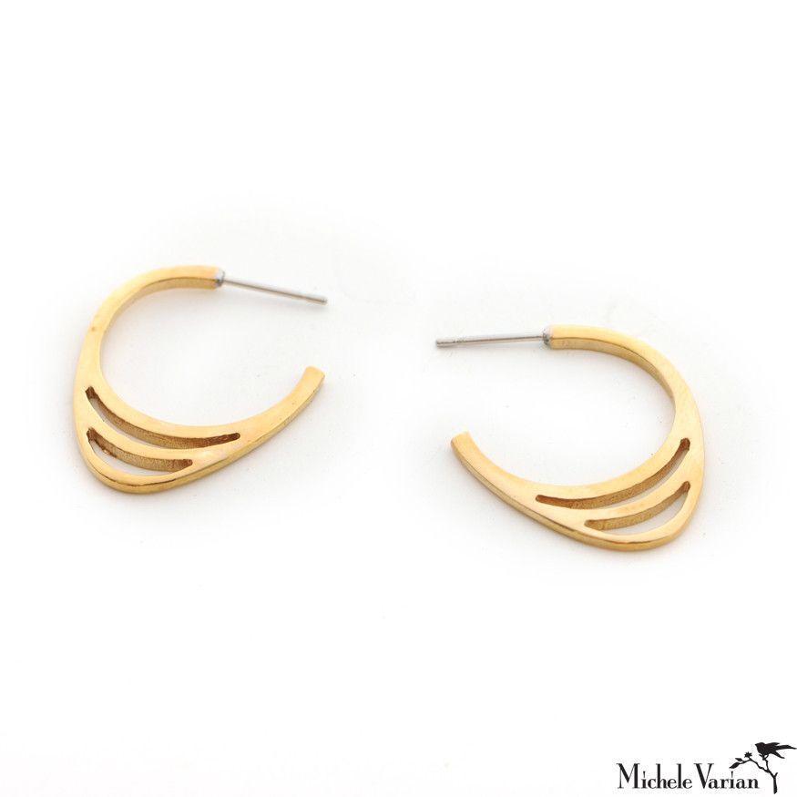Gold Icon Hoop Earrings