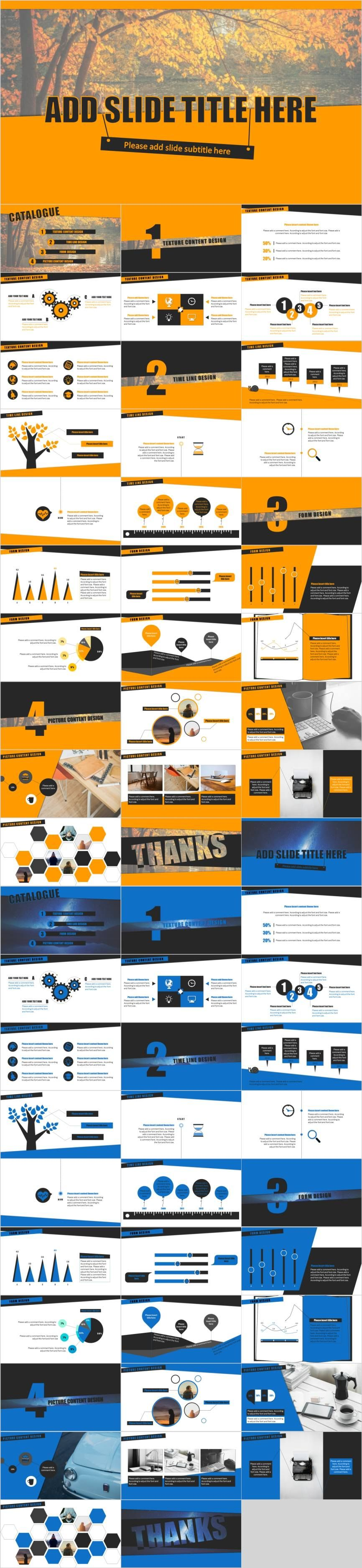 Bundle 2 in 1  Business PowerPoint template