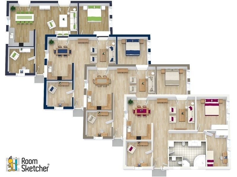 Customize 3d floor plans roomsketcher features in 2019 for Make your own house 3d