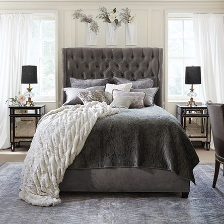 Devereaux Tufted Upholstered 70 Quot Queen Bed In View Otter
