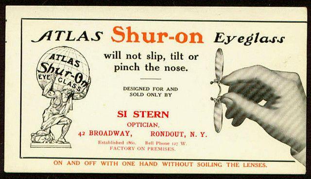 Shur On blotter ad c 1909  rl fp pz fingerpieces