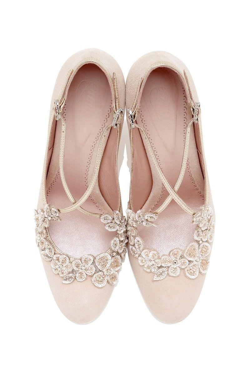 Emmy London Chic Vintage Brides Blush Bridal Shoes Bridal Wedding Shoes Wedding Shoes