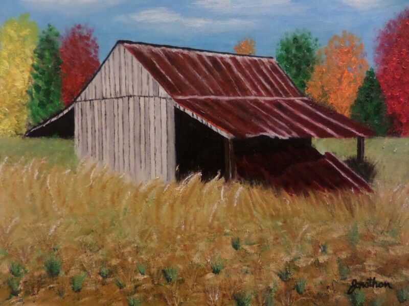 """""""This Ole Barn"""" #acrylic #painting from photo I took"""