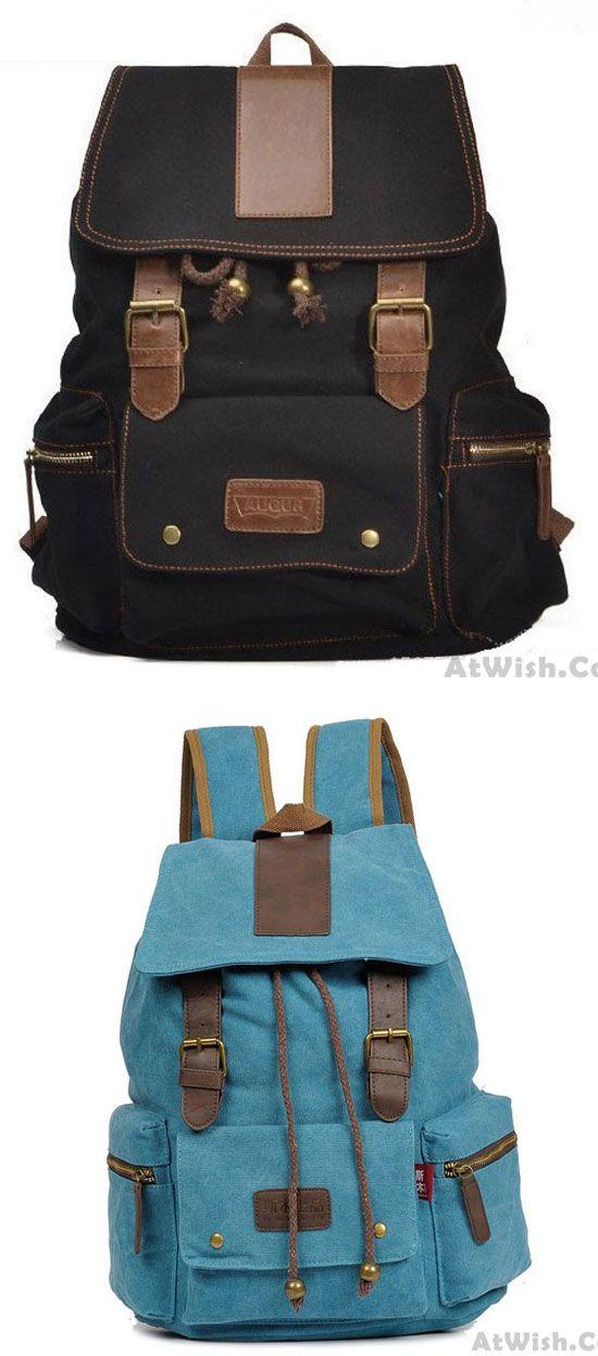 Multi Pocket Canvas Computer Bag Travel Bag Backpack for big sale! canvas   Backpack 1f2d8d8ef7