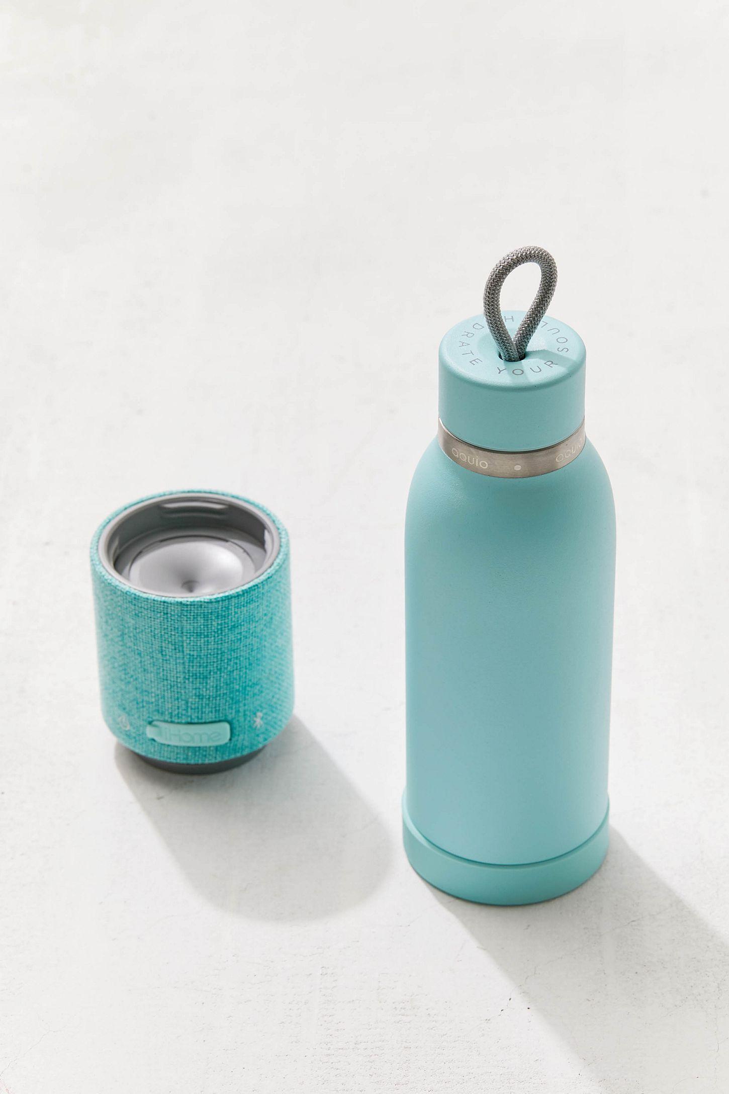 556d8f9009 Aquio Bluetooth Water Bottle Speaker   Turquoise   Water bottle ...