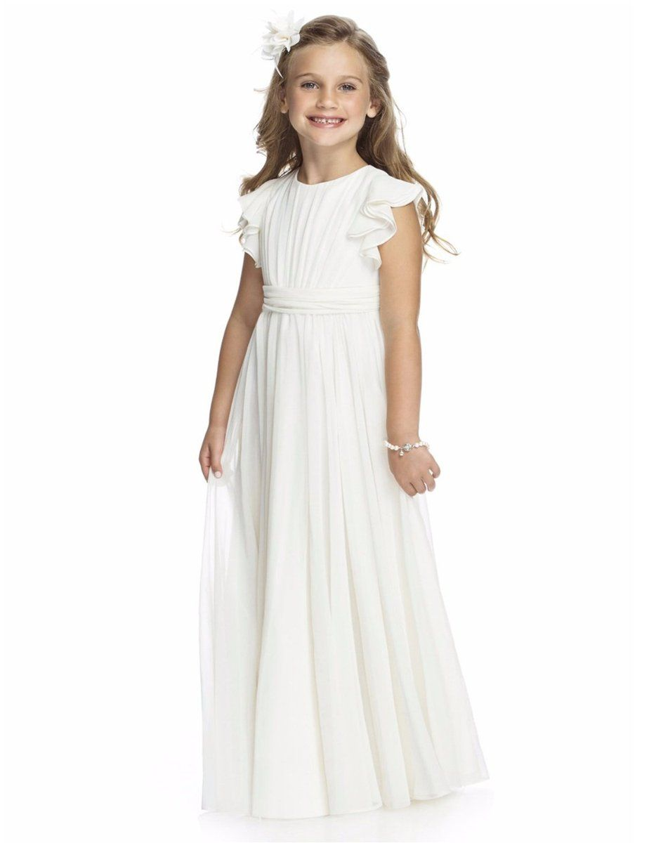 242ba807380ac Aprildress Round Neck Chiffon A Line Flower Girl Dresses First Communion  Dress PFD070