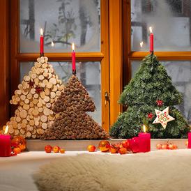 Weihnachtsdeko für die Fensterbank: Kleiner Winterwald #weihnachtsdekofensterbank