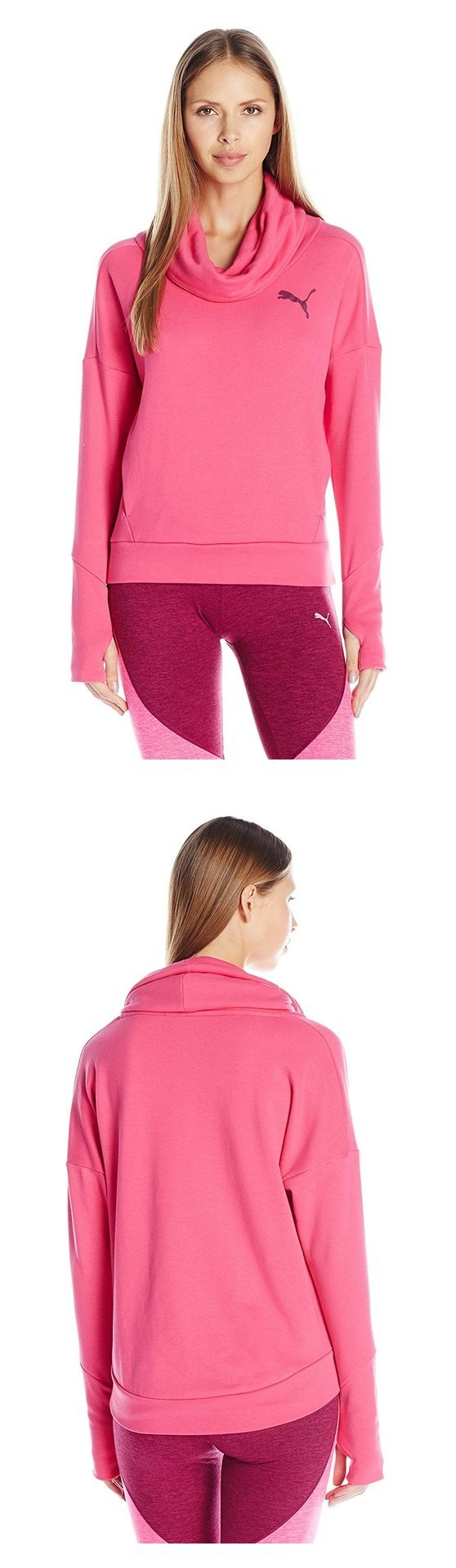 $22.56 - PUMA Women's Elevated Rollneck Sweat W Fuchsia Purple #puma