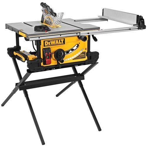 Dewalt dwe7490x 10 inch job site table saw with scissor stand dewalt dwe7490x 10 inch job site table saw with scissor stand power table saws greentooth Choice Image