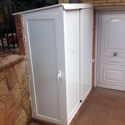 Resultado de imagen para cuarto de lavado exterior peque o - Armario lavadora exterior ...