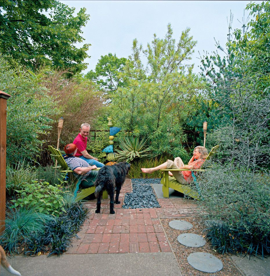 21 Landscaping Ideas For Slopes: Front Yard Patio, Outdoor Landscaping, Front
