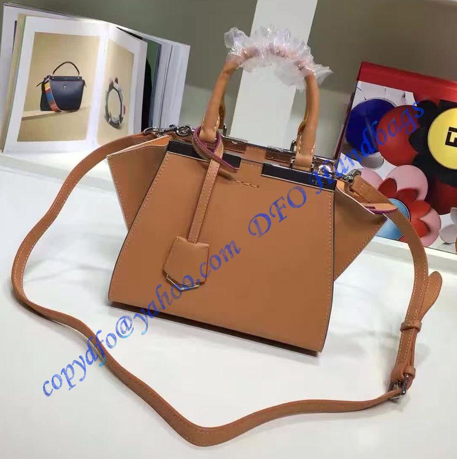 ceec67201d Fendi Mini 3Jours in Camel Leather Handbag in 2018