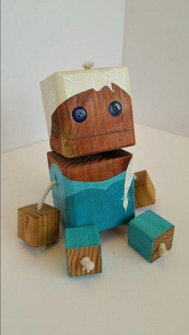 Pleasant Elsa Wood Toy Natural Wood Wood Robot Diy Toy Woodtoy Dailytribune Chair Design For Home Dailytribuneorg