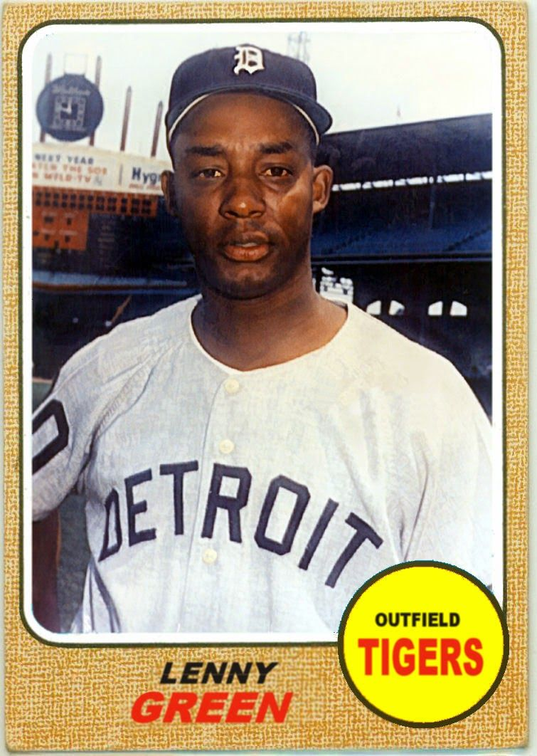 1968 Topps Lenny Green Detroit Tigers Baseball Cards That Never