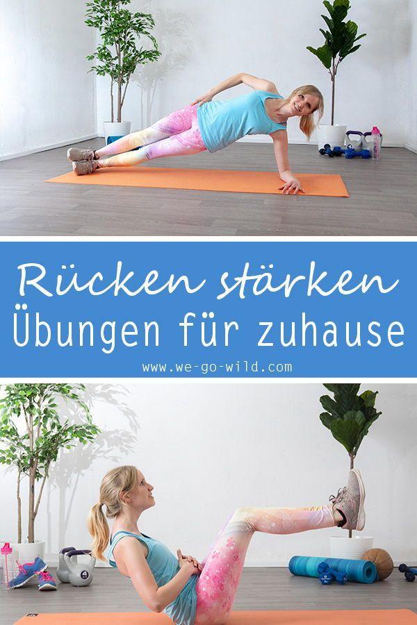 Rückentraining ohne Geräte - 11 effektive Übungen für den Rücken #workoutplans Mit diesen Rücken Übu...