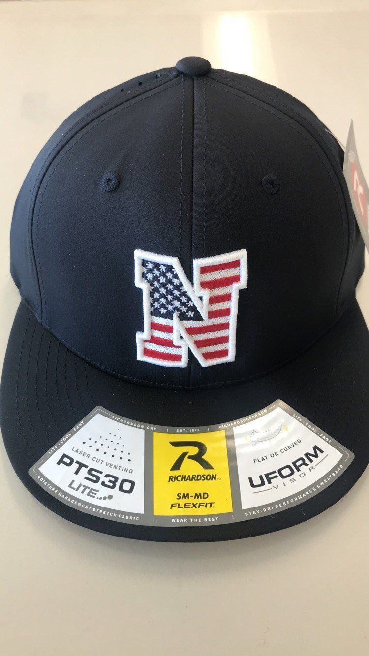 4f8b48f4375 Liberty North Eagles Navy American Flag Flexfit PTS30 Mesh Hat by Richardson