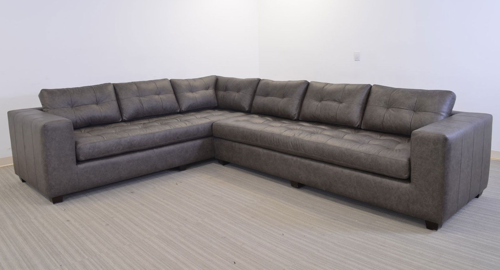 Gev Sofa Sectional Grey Leather The Leather Sofa Company Clean Line Large Scale Contemporary Style Multi Best Leather Sofa Sofa Company Grey Leather Sofa