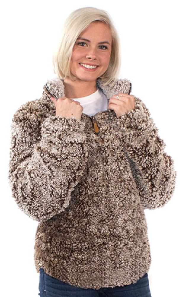 862de007ad27 Simply Southern Fuzzy Sherpa Pullover - Mocha
