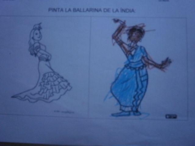 Pinta la ballarina hindú